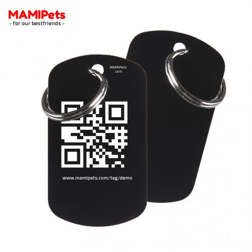 Medaglietta QR-Code Grande Nera Alluminio