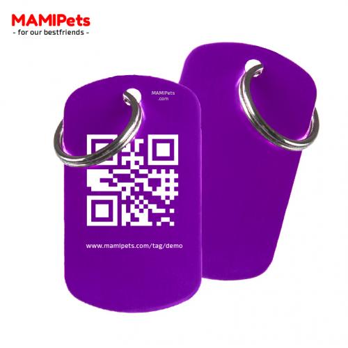 Medaglietta QR-Code Grande Viola Alluminio
